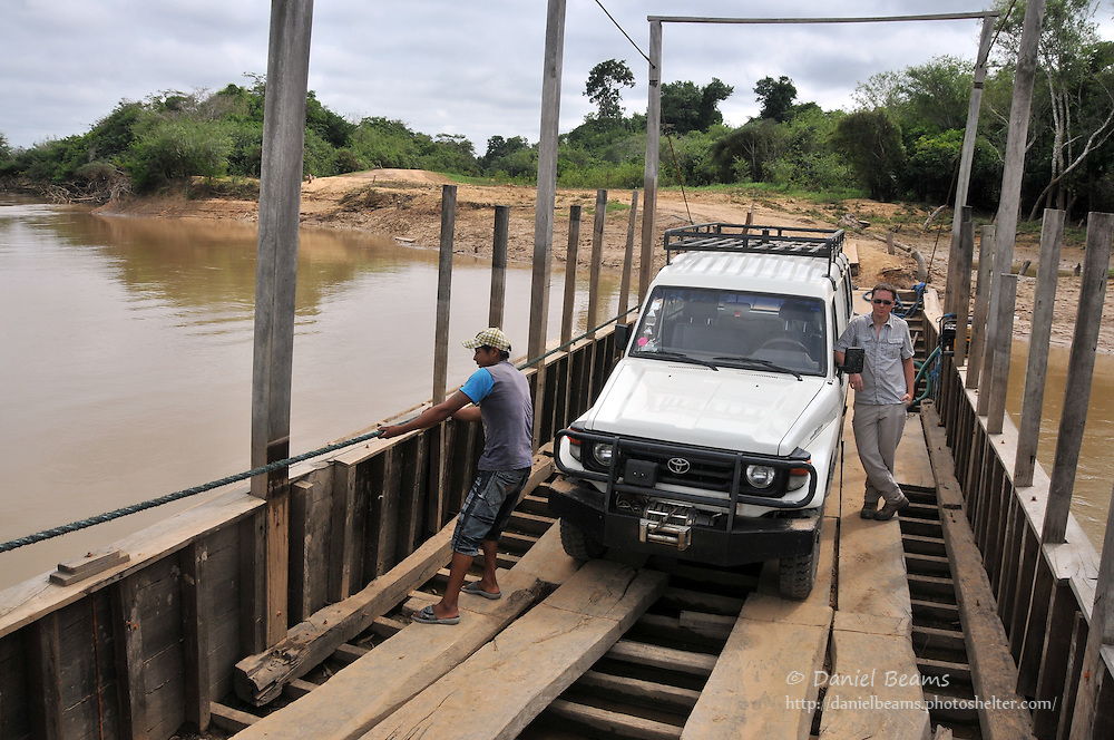 Ferry River Crossing near San Ignacio de Moxos, Beni, Bolivia