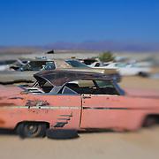 Dead Pink Thunderbird - Pearsonville, CA - Lensbaby