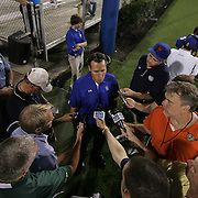Head Coach K.C. Keeler interviews with the press after a week 1 win over West Chester...Delaware will return home Sept. 8, 2012 at 3:30pm for a showdown with interstate Rival Delaware State in the Route 1 Rivalry Bowl at Delaware Stadium.