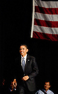 Barack Obama in Toledo, Ohio October 13, 2008.