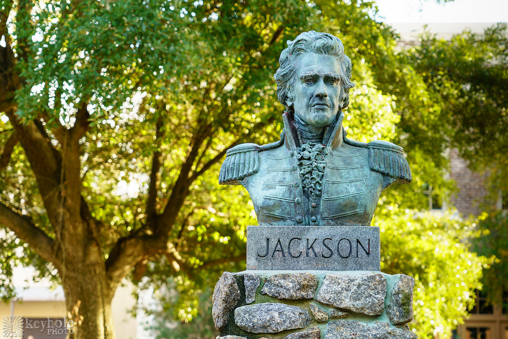 A bust of Andrew Jackson was installed in the Plaza Ferdinand VII in downtown Pensacola, Florida, in the spot where Jackson gave a speech when Spain ceded Florida to the United States in 1821.