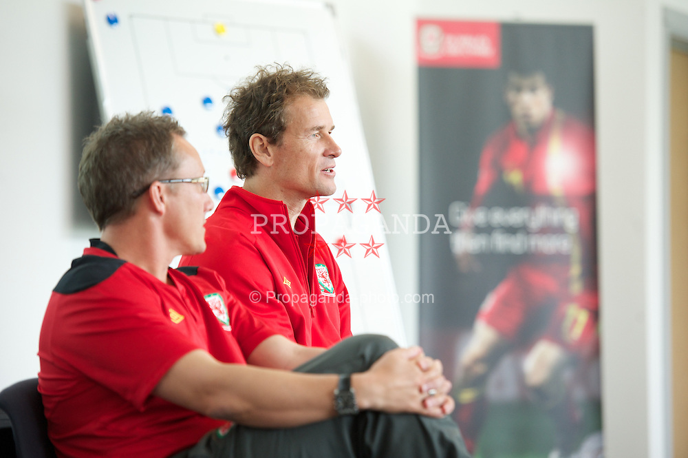 NEWPORT, WALES - Wednesday, May 22, 2013: Jens Lehmann during the Football Association of Wales' UEFA Pro Licence Course 2013 at Dragon Park. (Pic by David Rawcliffe/Propaganda)