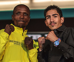 CARSON - MAY 31: Boxer Vusi Maligna (L) and Boxer Leo 'Terremoto' Santa Cruz at Home Depot Center Press Conference. All fees must be ageed prior to publication,.Byline and/or web usage link must read PHOTO Eduardo E. Silva/SILVEX.PHOTOSHELTER.COM Failure to byline correctly will incur double the agreed fee.