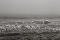 The Atlantic Ocean on a foggy day