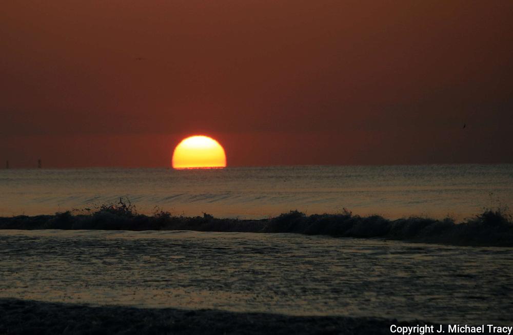 Sunrise on Myrtle Beach, South Carolina.