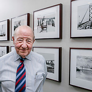Manuel (Matty) Moroun, the billionaire owner of the Ambassador Bridge, poses in his office at Detroit International Bridge Co. in Warren, MI, Wednesday, February 7, 2007. (Photo by Jeffrey Sauger)