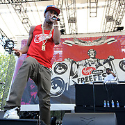 COLUMBIA, MD, -September 10th, 2011 - Big Sean was the lone hip-hop act on the bill at  the 2011 Virgin Mobile FreeFest at Merriweather Post Pavilion.  (Photo by Kyle Gustafson/FTWP).