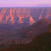 Evening view from the North Rim in Grand Canyon National Park, Arizona.