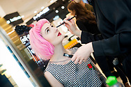 GLASGOW, SCOTLAND - MAY 10:  Star fashion and  beauty blogger Honey Pop attends the Kat Von D Beauty range launch at Debenhams, Silverburn on May 10, 2017 in Glasgow, Scotland.  (Photo by Ross Gilmore/Getty Images for Kat Von D Beauty)