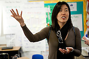 Michelle Rhee and her StudentsFirst staff tour PS7 in Sacramento, Calif., February 4, 2011.
