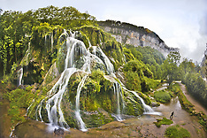 Tufs waterfall at Beaume-les-Messieurs