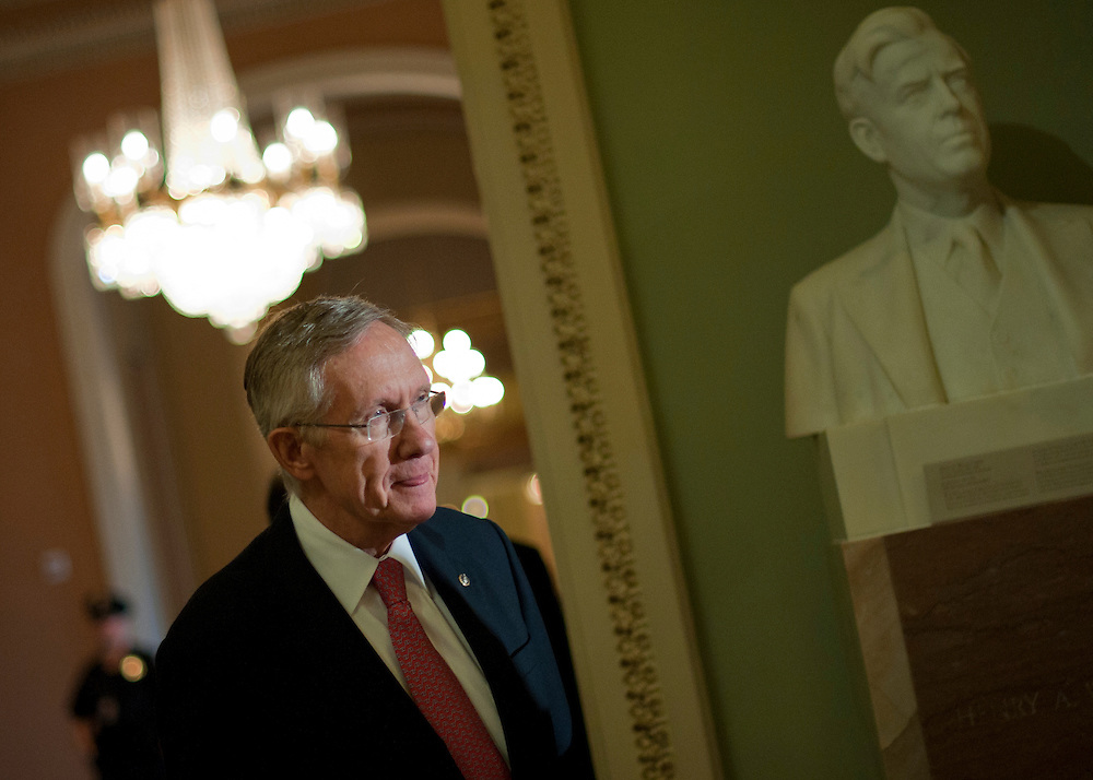 Nov 30, 2010 - Washington, District of Columbia, U.S. -  Senate Majority Leader HARRY REID arrives for a press conference to announce that Senator PATTY MURRAY (D-WA) accepted the post of chairwoman of the Democratic Senatorial Campaign Committee,. (Credit Image: © Pete Marovich/ZUMA Press)