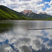 Lakeside reflection, Red Mountain pass, Ouray, Colorado