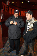 l to r: Domingo and Dan Petruzzi at The OkayPlayer Hoiliday Jammy presented by OkayPlayer and Frank Magazine held at BB Kings on December 18, 2008 in New York City..The Legendary Roots Crew gives back to fans with All-Star line-up of Special Guests to celebrate upcoming Holiday Season.