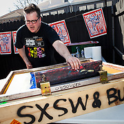 Screenprinting at DMX SXSW Party 2011