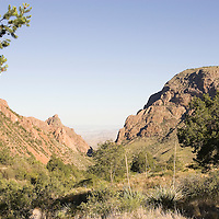 View of The Window from The Basin, Big Bend National Park, Texas.