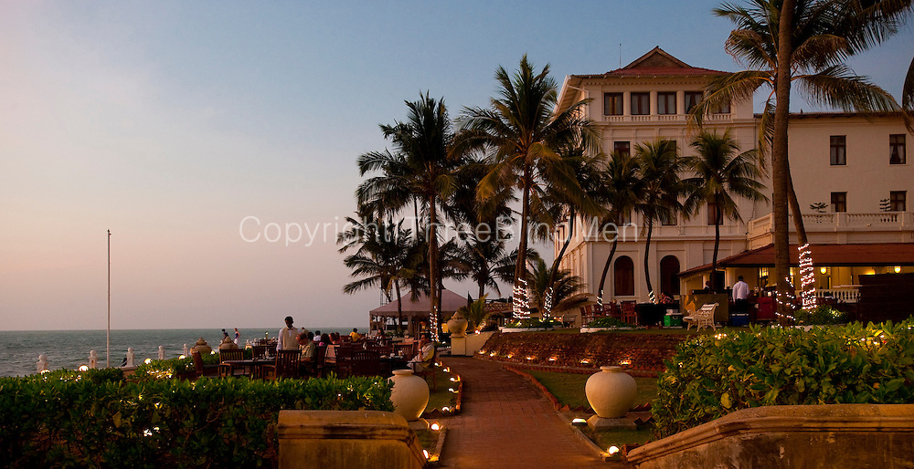 Terrace of the Galle Face Hotel. Colombo.