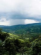 Rain shower over Burma seen from Doi Tung.