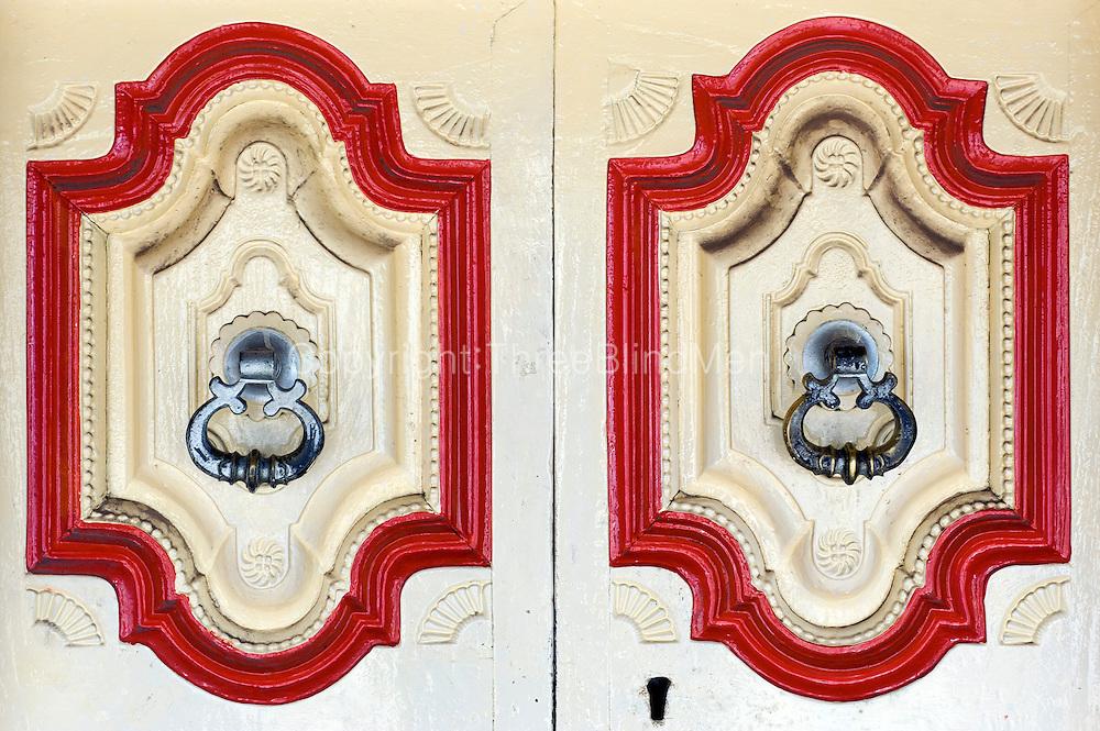 Detail of front door. Rahman House, Onion Bazaar Street, Nagapattinam.