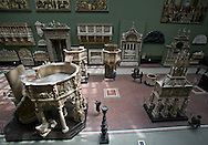 One of the main exhibit rooms in the Victoria & Albert Museum, London.