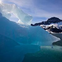 Norway, Svalbard, Spitsbergen Island, Melting iceberg near face of Paierlbreen Glacier in Burgerbukta on summer morning