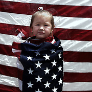 Young participant in the Great American Boycott, a nationwide boycott of work and school by a group of mostly Latino protestors in an effort to highlight the country's reliance on immigrant labor.
