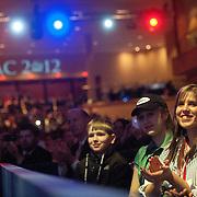 CPAC attendees applaud Mitt during his speech.