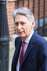 2017-03-07 Chancellor Philip Hammond in Downing Street on day before budget