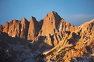 Sunrise on Mount Whitney in the Sierra Nevada Mountains, California