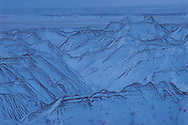 South Dakota. Badlands National Park in Snow established in 1978