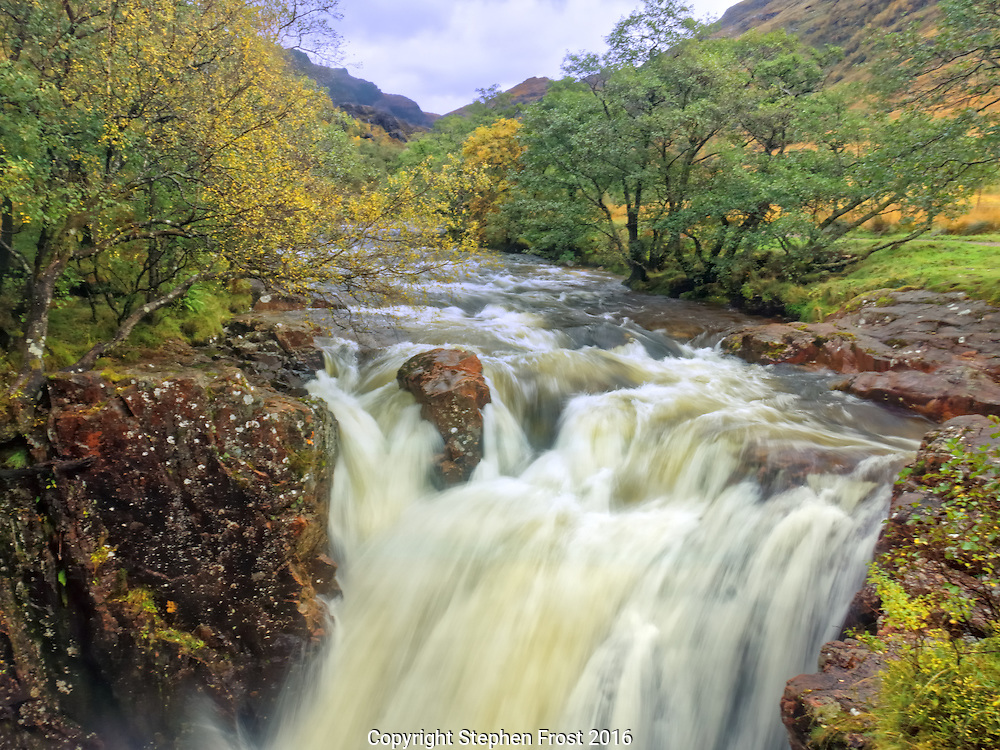 Glen Nevis is a valley at the foot of the Ben Nevis range. It is in the Lochaber area of the Scottish Highlands, close to the town of Fort William.