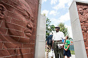 Khalid Sharrieff, 79, visits Chicago's first permanent memorial to Martin Luther King, Jr. which was introduced to the public on Friday in Marquette Park.