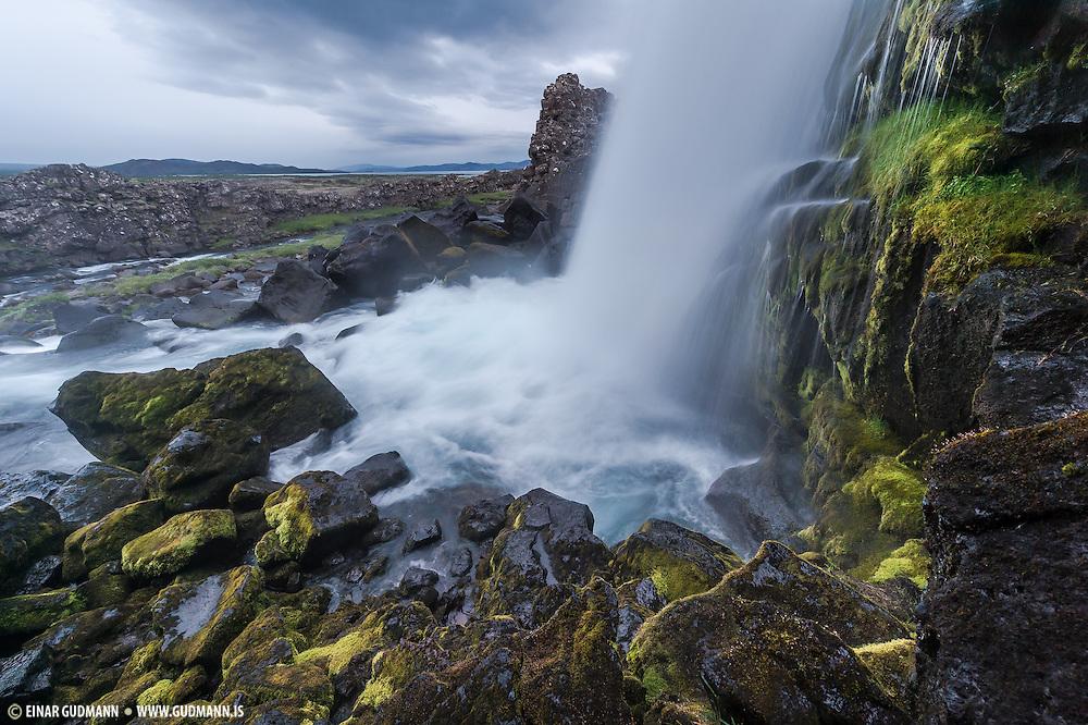 Oxararfoss waterfall in Thingvellir national park.