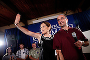 GOP Presidential candidate Rep. Michele Bachmann arrives at a town hall event in Muscatine, Iowa, July 24, 2011.