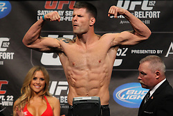 Toronto, Ontario, Canada - September 21, 2012: Brian Stann weighs in for his fight against Michael Bisping at the UFC 152 weigh-ins at the Mattamy Athletic Centre at The Gardens in Toronto, Ontario, Canada.