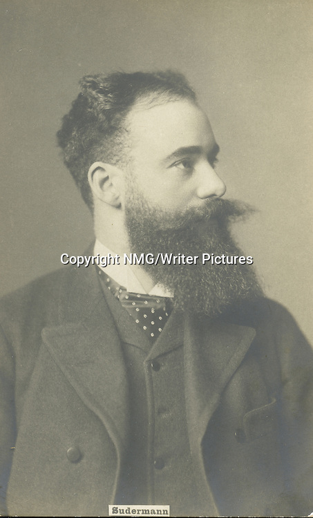 Hermann Sudermann, German Dramatist, and Novelist<br /> <br /> Copyright NMG/Writer Pictures<br /> WORLD RIGHTS
