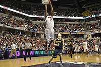 Ohio State guard Jordan Siebert (2) puts down a two-handed dunk in the first half of the Big Ten Tournament semifinals in Indianapolis, on March, 11, 2011, at Conseco Fieldhouse. Ohio State defeated Michigan 68-61.