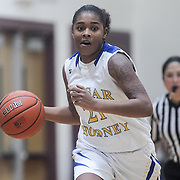 Caesar Rodney Alissa Haith (21) dribbles the ball up the floor during a Diamond State Classic game Wed. Dec. 28, 2016 at Saint Elizabeth's High School in Wilmington.