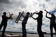 30/4/2012 Chatam Saxaphone Quartet  taking a break from rehearsals on Monday afternoon before the launch of the 10th birthday celebrations of The Galway Music Residency. Photo:Andrew Downes