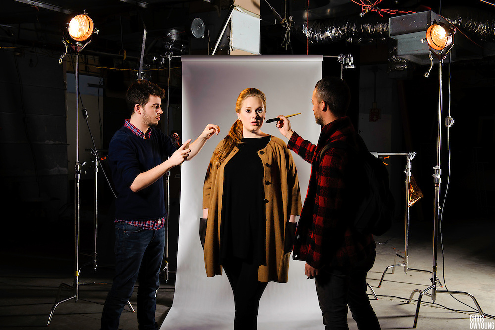 Adele photographed at PC Richard & Son Theater for iheartradio.com. New York, New York, February 2011.