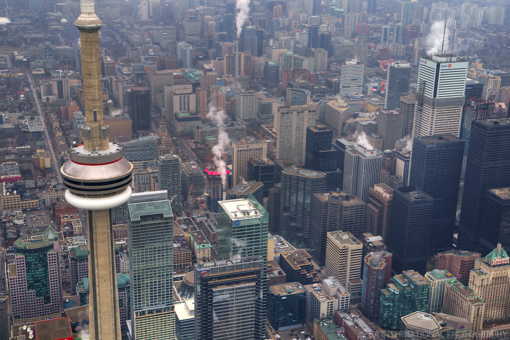 Aerial View, CN Tower, Toronto