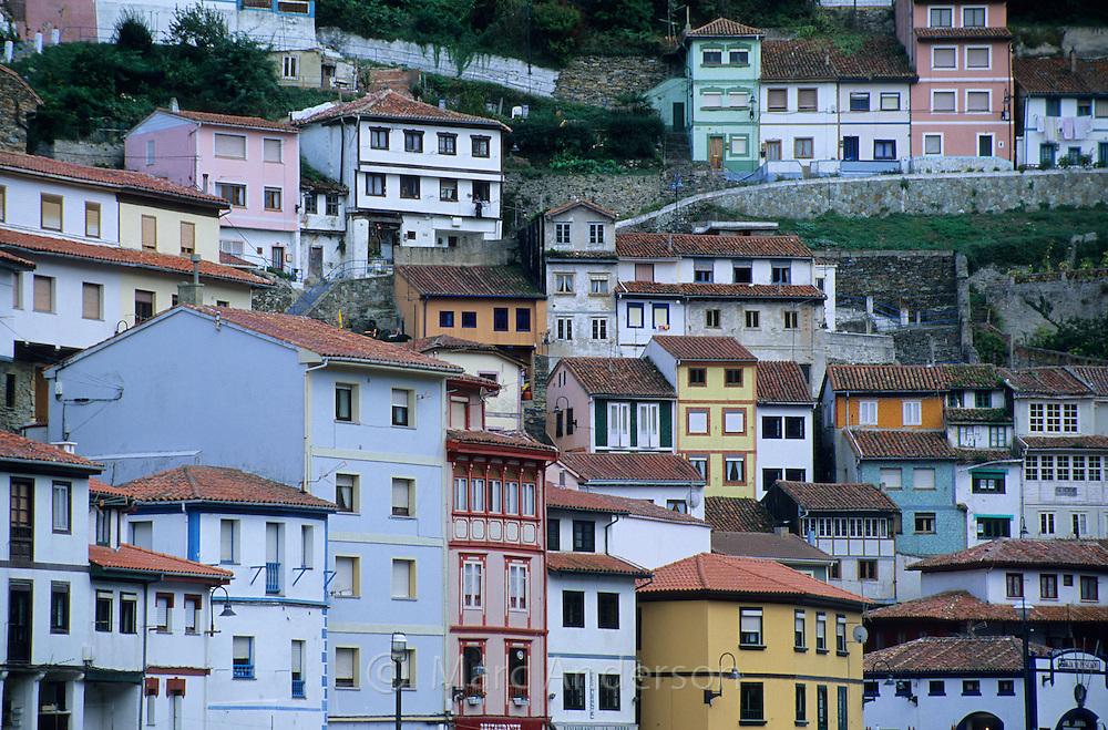 Cuderillo, a colourful seaside village in Galicia, northern Spain
