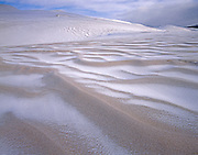 AA00856-02...COLORADO - Fresh snow on sand dunes in Great Sand Dunes National Park