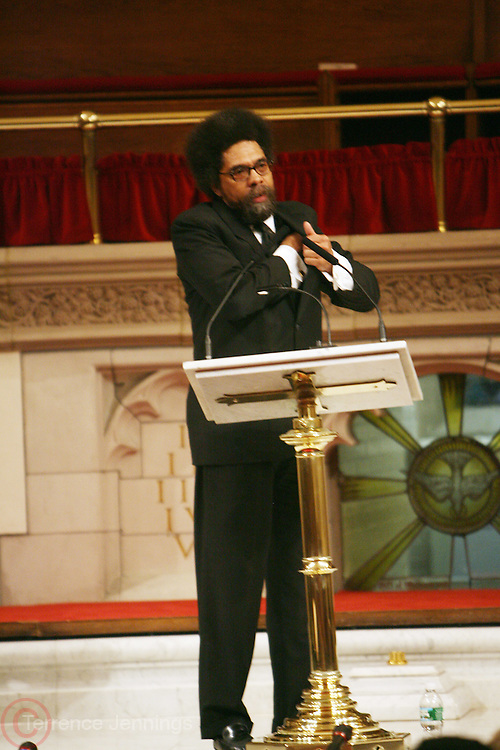 Cornell West at The Cornell West Talk held at The Abyssynia Baptist Church in Harlem , NYC April 1, 2009