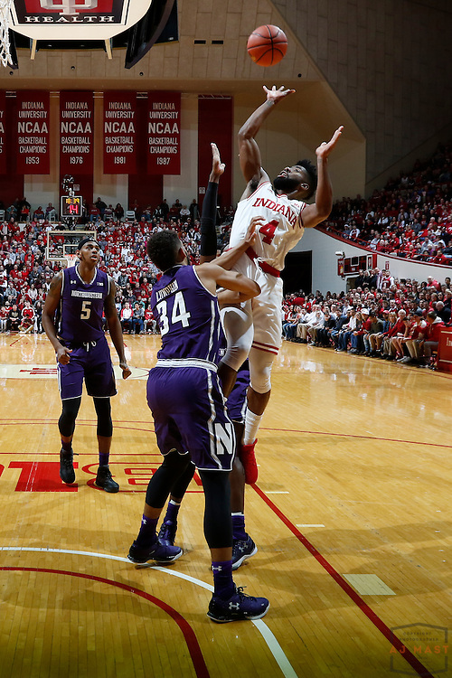 Indiana guard Robert Johnson (4) in action as Northwestern played Indiana in an NCCA college basketball game in Bloomington, Ind., Saturday, Feb. 25, 2017. (AJ Mast)