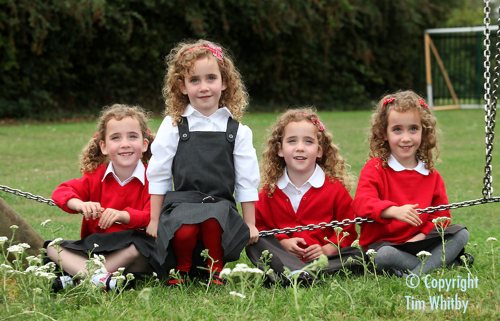 The UK's Only Identical Quadruplets Wear Sainsbury's School ...