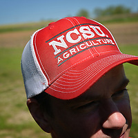 Soil sciences student's cap at the Agroecology Farm.