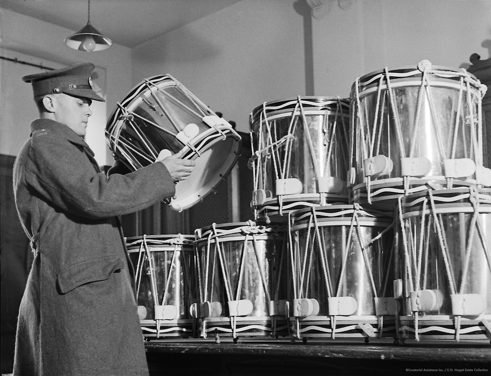Storing Drums, Royal Military College of Music, England, c. 1930