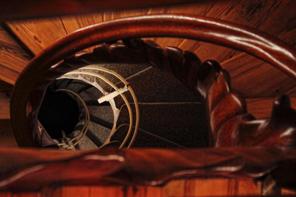 Stair way in Casa Batllo, designed by Antoni Gaudi, Barcelona.
