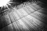 Potocari memorial (Srebrenica zone). July 11 1995 serbian troops commanded by Ratko Mladic killed 8000-10000 Bosnian muslims